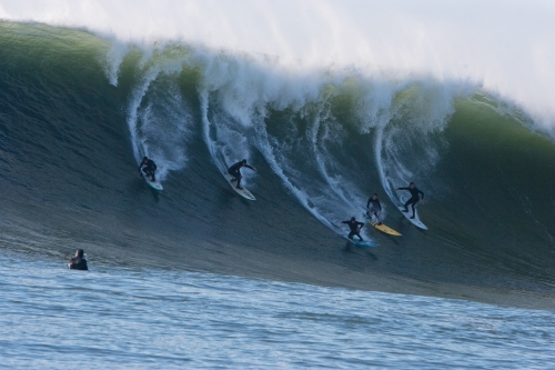 Maverick Surfers, Photo by Charlie Witmer (2012)